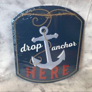 Nautical Anchor Metal Sign